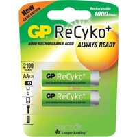 Фото GP Batteries AA 2100mAh NiMh 2шт ReCyko+ (210AAHCB)