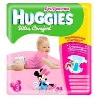 Фото Huggies Ultra Comfort для девочек 3 (94 шт.)
