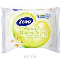 Фото Zewa Туалетная бумага влажная Natural Camomile 42 шт
