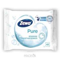 Фото Zewa Туалетная бумага влажная Pure 42 шт