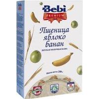 Фото Bebi Premium Каша молочная Пшеница, яблоко, банан с 6 мес. 250 г