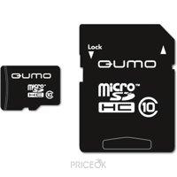 Фото Qumo microSDHC Class 10 + SD adapter 32Gb