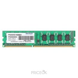 Фото Patriot 2GB DDR3 1600MHz (PSD32G160081)