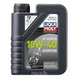 Моторное масло Liqui Moly Scooter Motoroil Synth 4T 10W-40 1л (7522)