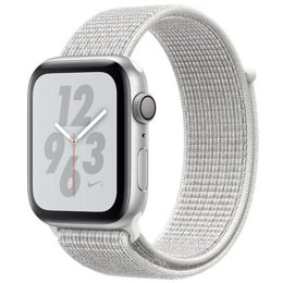 Умные часы, браслет спортивный Apple Watch Nike+ Series 4 GPS 44mm Silver Alum. w. Summit White Nike Sport l. Silver Alum. (MU7H2)
